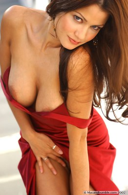 Alley Baggett in Hot Red Dress - 01