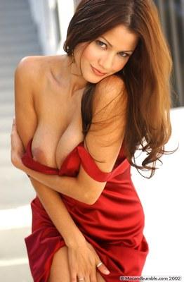 Alley Baggett in Hot Red Dress - 02