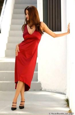 Alley Baggett in Hot Red Dress - 07