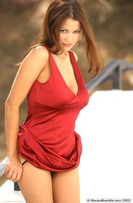 Alley Baggett in Hot Red Dress - 09