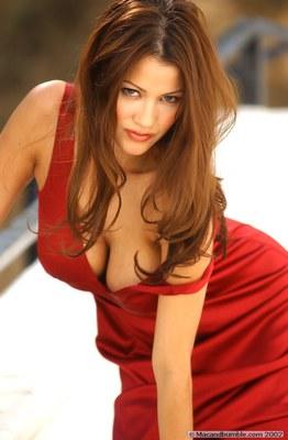 Alley Baggett in Hot Red Dress - 11