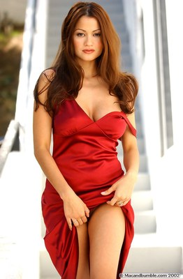 Alley Baggett in Hot Red Dress - 12