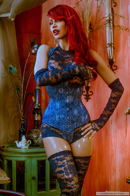 Ripped Blue Lace - 01