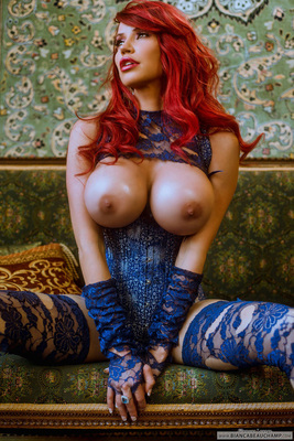 Ripped Blue Lace - 09