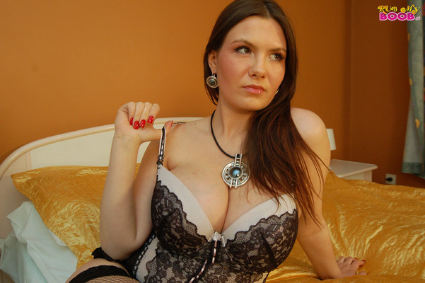 Lacy Corset And Fishnet - 05