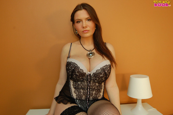 Lacy Corset And Fishnet - 08