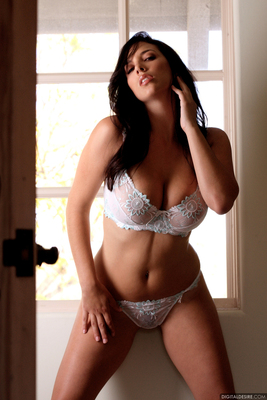 Lovely Curves of Jelena in White Lingerie - 00