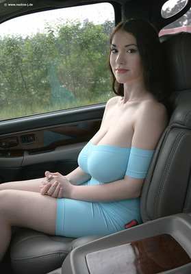 Skintight Blue Dress - 01