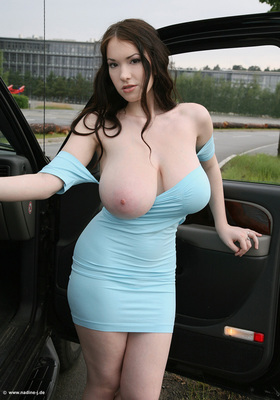 Skintight Blue Dress - 03