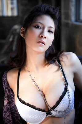 Busty Japanese AV Model in Varios Shots - 11