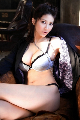 Busty Japanese AV Model in Varios Shots - 14