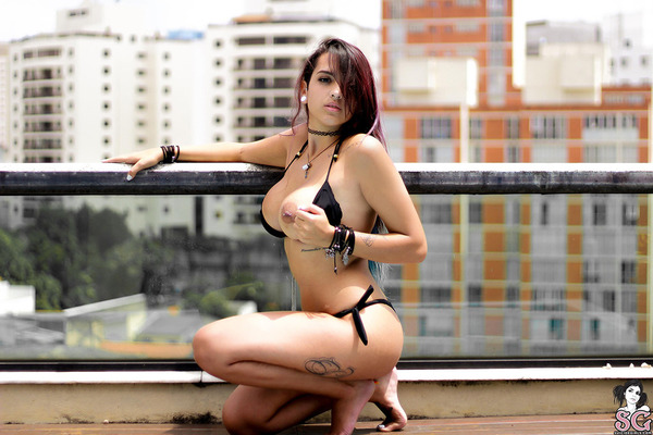 Topless Tits On The Rooftop - 01