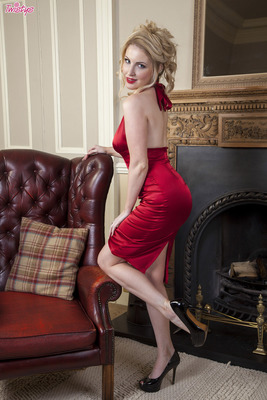Hot Red Satin Dress - 00