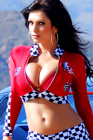 Denise Milani in 'Racing Car Babe' via