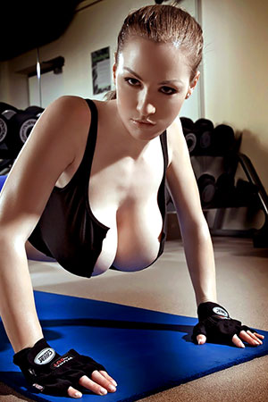 Jordan Carver in 'Heavy Gym' via