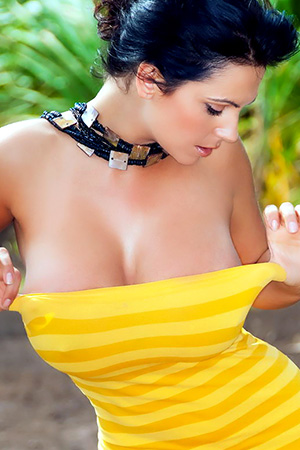 Denise Milani in 'Sunny Boobs' via Denise Milani's Site