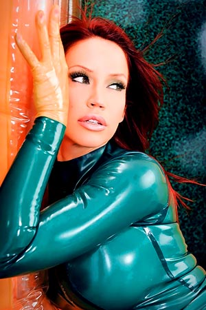 Bianca Bauchump in 'Emerald Fever' via Latex Lair