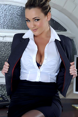 Jodie Gasson in 'Saucy Secretary' via Brooke Lee Playmates