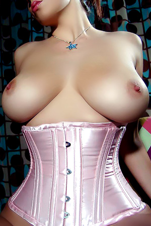 Jelena Jensen in 'Pink Corset' via Busty Teens