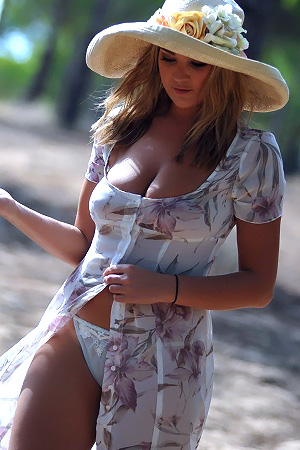 Jodie Gasson in 'Sundress' via Girlfolio