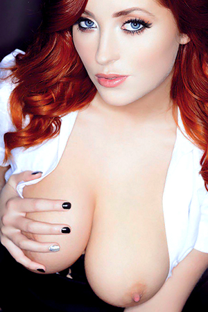 Lucy Collett in 'Topless Office Babes ' via Nuts Magazine
