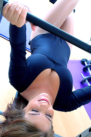 Jessica Kingham in 'Working Out Again' via Only Tease