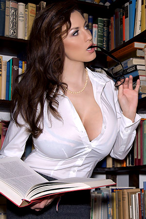 Jordan Carver in 'Library' via Pinup Files