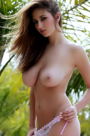 Shay Laren in 'Busty Hottie Posing Outdoors nude' via Digital Desire