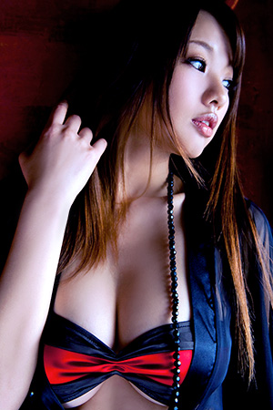 Sayuki Matsumoto in 'Japanese AV Model in Black See Through Robe and Red Linerie' via Sexasian18