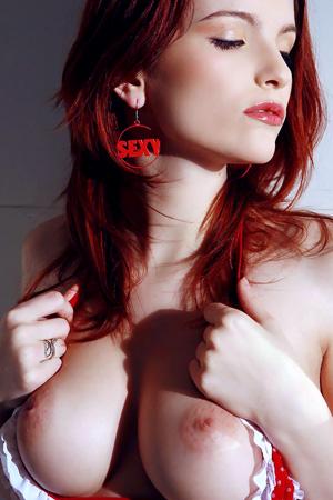 Ulya in 'Perfect Boobs of Sexy Ukranian Redhead' via Metart