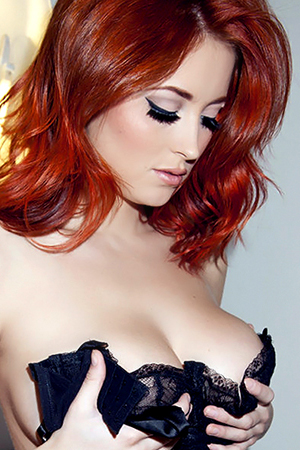 Lucy Collett in 'Luscious Lucy' via Nuts Magazine
