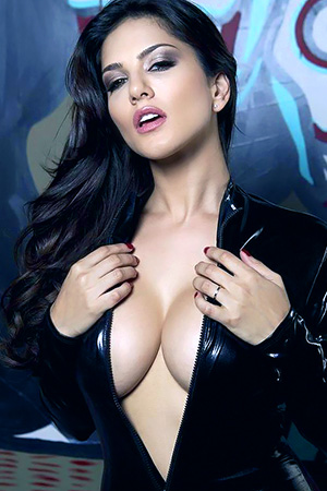 Sunny Leone in 'Shiny Black Dress' via Sunny Leone Official