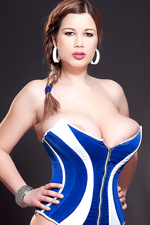 Terry Nova in 'Wrapped in Corset' via Scoreland