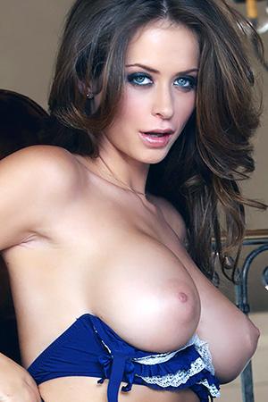 Emily Addison in 'Blue Lingerie' via