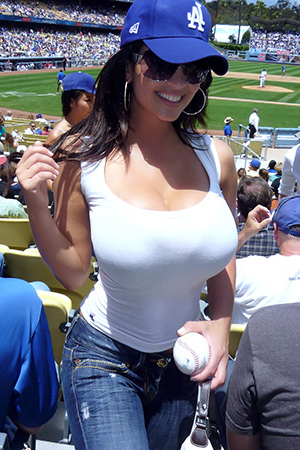 Denise Milani in 'Baseball Boobs' via