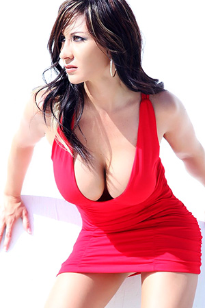 Diane in 'Hot Red Dress' via ActionGirls