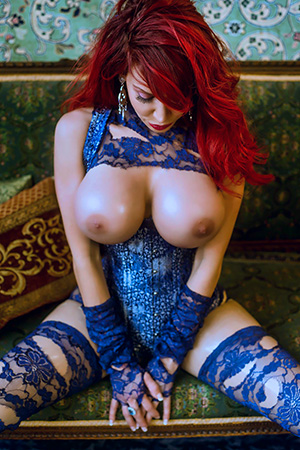 Bianca Beauchamp in 'Ripped Blue Lace' via