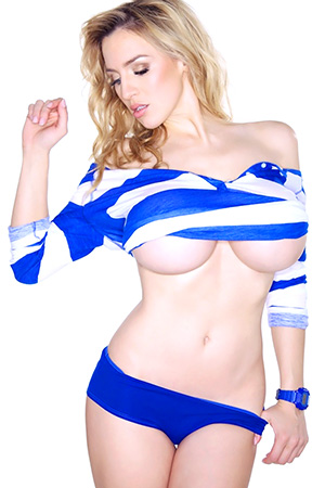 Jordan Carver in 'Blue Stripes' via JOCA Official