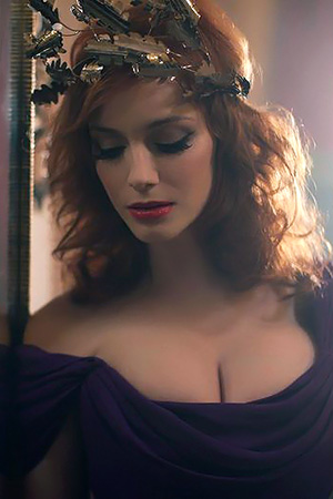 Christina Hendricks in 'Redhead Star' via Busty Celebs