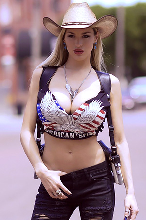 Jordan Carver in 'Bang Bang' via