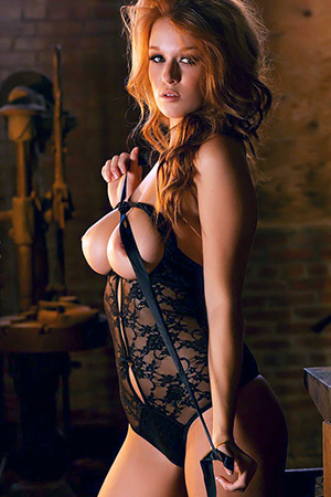 Leanna Decker in 'Fiery Babe' via Playboy