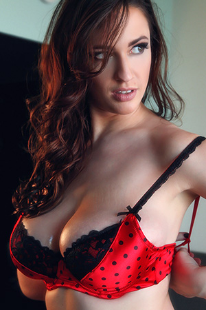 Lana Kendrick in 'Polka Dotted Red Bra' via Pinup Files