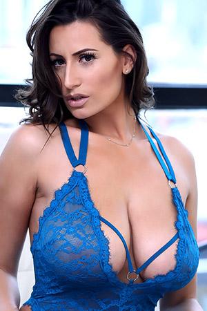 Sensual Jane in 'Blue Lace Bodysuit' via Sensual Jane Official