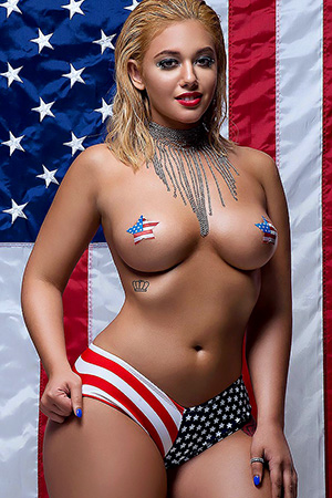 Jazzzy Boo in 'July 4th Tits' via Dynasty Series