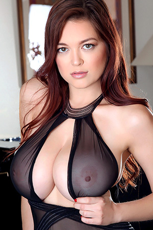Tessa Fowler in 'Seethru Black Bodysuit' via