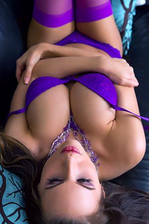 Katie Banks in 'Sexy Purple Lingerie' via Katie Banks Official