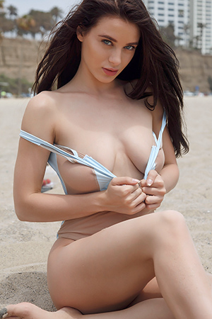 Lana Rhoades in 'Beach Bunny' via Zishy
