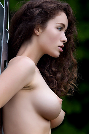 Vika A in 'Forest Nymph' via Femjoy