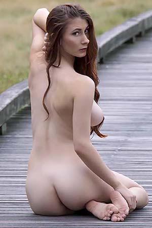Penni in 'Road Block Boobs' via Nude-Muse