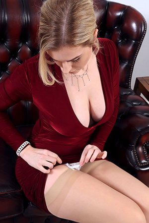 Jenny James in 'Sexy Red Dress' via Only-Tease